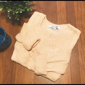 Forever 21 Light Peach Cable Knit Sweater